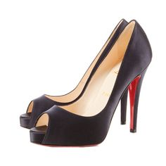 Christian Louboutin Very Prive 120 Peep Toe Pumps Black