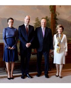 William & Kate at the royal palace of Norway's King Harald & Queen Sonja, 1/1/2018