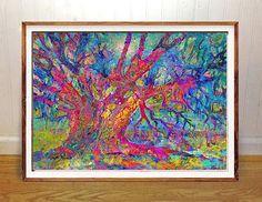 Live Oak wall art print Charleston Johns Island abstract