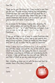 free printable santa letter quick reminder to be good christmas