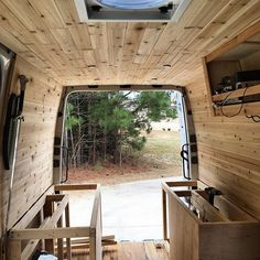 Tbt To Finishing The Cedar And Starting Framingvanlife Vanconversion Woodworking