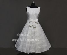 short wedding dress lace short wedding dress simple by okbridal, $198.00