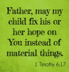 God fulfills; Parental prayers