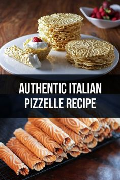 Authentic Italian Pizzelle Recipe - Ferratelle Abruzzesi via Authentic Italian Pizzelle Recipe, Italian Cookie Recipes, Italian Cookies, Italian Desserts, Italian Dishes, Italian Foods, Pizelle Recipe, Pizzelle Cookies, Crack Crackers