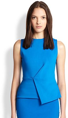 Alexander Wang Asymmetrical Peplum Top