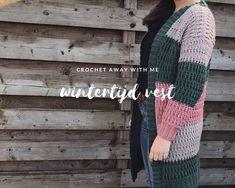 Wintertijd vest Crochet Clothes, Cross Stitching, Stitch Patterns, Weaving, Knitting, Cardigan, Crafting, Kitty, Fashion
