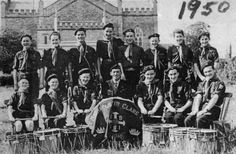 1950, Ennis Boy Scouts Band at the Parish Field, beside the Cathedral