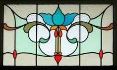 Art nouveau stain glass