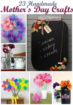 Discover 23 beautiful Handmade Mother's Day Crafts for Kids or even Adults to make and easy DIY ideas that make the best gifts to make Mom and Grandma Happy. Easy to personalize and show mom that she is loved.