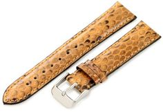 Hadley-Roma Women's LS2020RR 180 18-mm Saddle Genuine Python Watch Strap - http://www.specialdaysgift.com/hadley-roma-womens-ls2020rr-180-18-mm-saddle-genuine-python-watch-strap/
