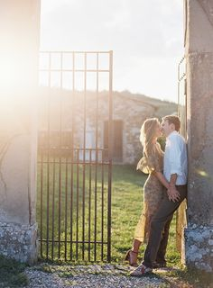 charming outdoor engagement shoot | image via: once wed