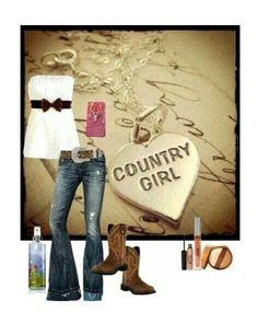 Country girl..add alil sweater shrug...cute
