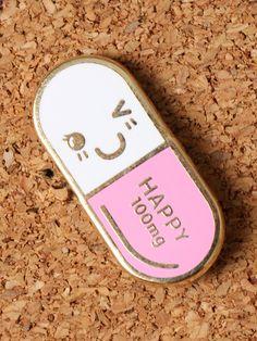 Mr. Happy Pill Enamel Pin - Gypsy Warrior