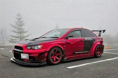 Red evo x Mitsubishi Lancer Tuning, Mitsubishi Cars, Mitsubishi Lancer Evolution, Tuner Cars, Jdm Cars, Honda S2000, Honda Civic, Carros Audi, Automobile
