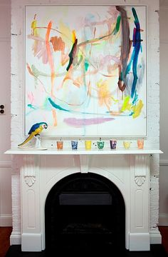 @anna spiro talks of the thrill at lighting the fire each night - if this was my fireplace I would be thrilled too