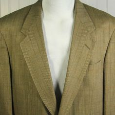 Vtg AUSTIN REED London Mens 42R Jacket 100 Silk Glen Plaid Sport Coat Blazer EXC #AustinReed #TwoButton