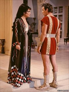 "Elizabeth Taylor and Richard Burton in ""Cleopatra"""
