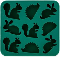 Too cute! Woodland creature ice cube trays.