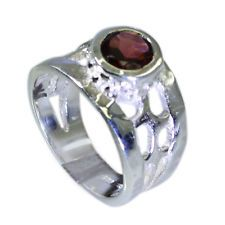 shapely Garnet Silver Red Ring suppiler L-1in US 5678