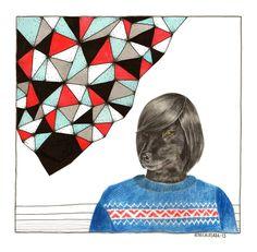 ANDRÉS. Rebeca Losada, color pencils, 2013.