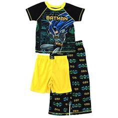 9f70668c7 Amazon.com: Batman Boys Black 3 pc Poly Pajamas Set (XS (4/5)): Clothing. Little  Boy OutfitsBaby ...