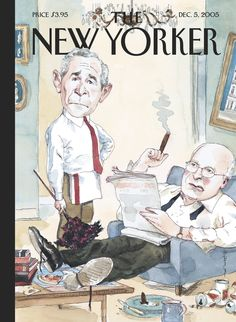 "The New Yorker - Monday, December 5, 2005 - Issue # 4147 - Vol. 81 - N° 39 - Cover ""The Odd Couple"" by Barry Blitt"