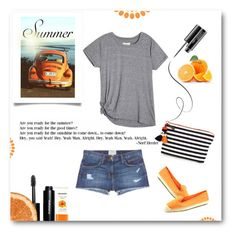 """""""Are you ready for the summer?"""" by idocoffee ❤ liked on Polyvore featuring Mamonde, Current/Elliott, Bobbi Brown Cosmetics, MAC Cosmetics, Nine West and JADEtribe"""