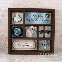 great idea for a valentine shadow box