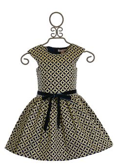 Halabaloo Party Dress for Girls in Navy