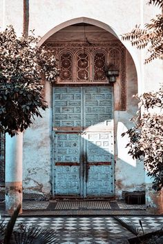 Morocco Entry ~ old metal doors