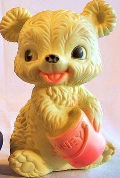 Vintage 1960's Rubber Bear
