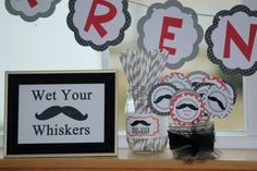 Little Mans Tie and Mustache Baby Party Package by paperpatterns, $75.00