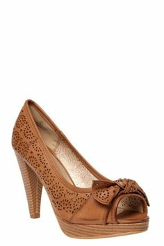 8ea489cff0e9 Torrid Plus Size Quincy Cognac Perforated Faux Leather Bow Heels (Wide  Width)