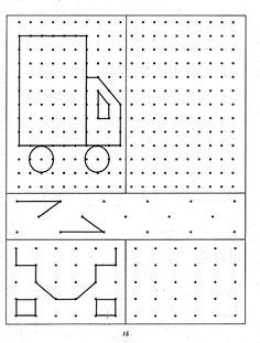 grafomotorika - Google'da Ara Symmetry Worksheets, Occupational Therapy Activities, Math For Kids, Teaching Math, Transportation, Kindergarten, Preschool, Puzzle, Diagram