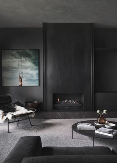 Mim Design, Deco Design, Living Area, Living Room, Dark Interiors, Level Homes, Australian Homes, Thats The Way, Residential Architecture