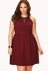fit and flare dress. Plus size fashion for women Valentine's day #dress 2014 dress option.