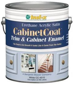 CabinetCoat enamel paint- self leveling product from Benjamin Moore