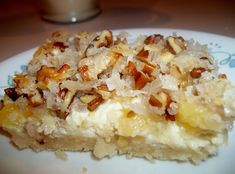 Pineapple Delight Bars #coconut #Cream #cheese #pineapple #pecans #bars #justapinchrecipes