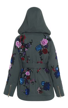 Embroidered Wool Parka With Fur Lining by Zuhair Murad | Moda Operandi