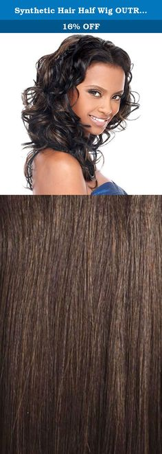 Synthetic Hair Half Wig OUTRE Quick Weave Desire Color 4. Self Styled In 60 SecondsChoose from the selections of beautiful, trendy and popular styles. Close to 100 styles available and more to come ...-Blends with your own hair for fullness without bulk. Change styles as often as you like in just a minute-Better than a wig. Blends with your own hair quickly-Better than a weave. Can be done anywhere, anytime by you, without help-Lets you be you. Use quick weave to allow your hair to…