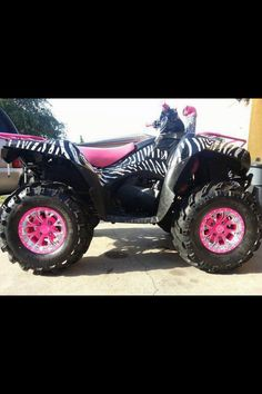 LOVE!!!  #zebra #pink #fourwheeler