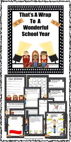 That's A Wrap - End Of Year Printable Book - A fun filled activity book using the Hollywood theme ##endofyear  #memorybook  #classroom