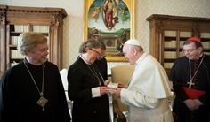 Pope Francis Met with Finland's Luthern Ecumenical Delegation for Unity.