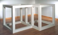 Sol LeWitt 'Two Open Modular Cubes/Half-Off', 1972 © The estate of Sol LeWitt