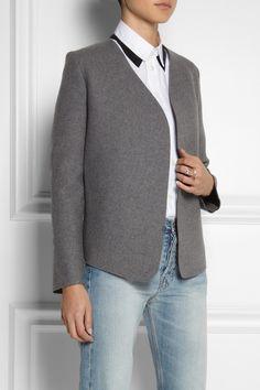 J.W.Anderson Neoprene-effect wool-blend jacket NET-A-PORTER.COM