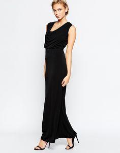 Wal+G+Maxi+Dress+With+Drape+Neckline