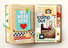 For the past week I've been busy working on turning an old book into a little scrapbook. It has been so much fun... definitely my favorite m...