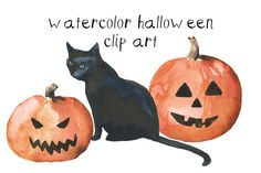 Check out Watercolor Halloween Clip Art by Digital Press Creation on Creative Market