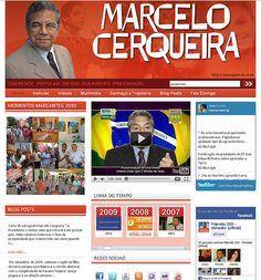 WS AGENCIA DIGITAL - Site da campanha ao Senado de 2011 do candidato Marcelo Cerqueira - Marketing Político Digital