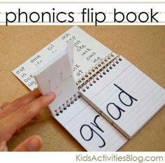 Phonics flip book